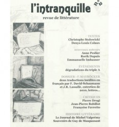 L'INTRANQUILLE N°2, REVUE DE LITTERATURE