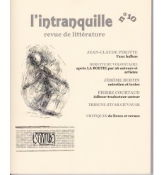 L'intranquille n° 10